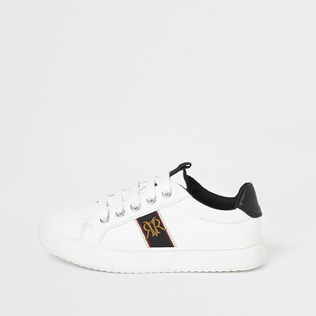 Witte sneakers met RI-wapen voor jongens