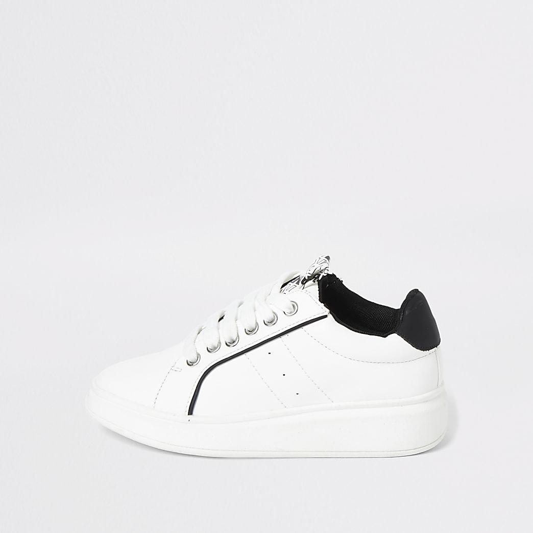 Baskets blanches à lacets pour garçon