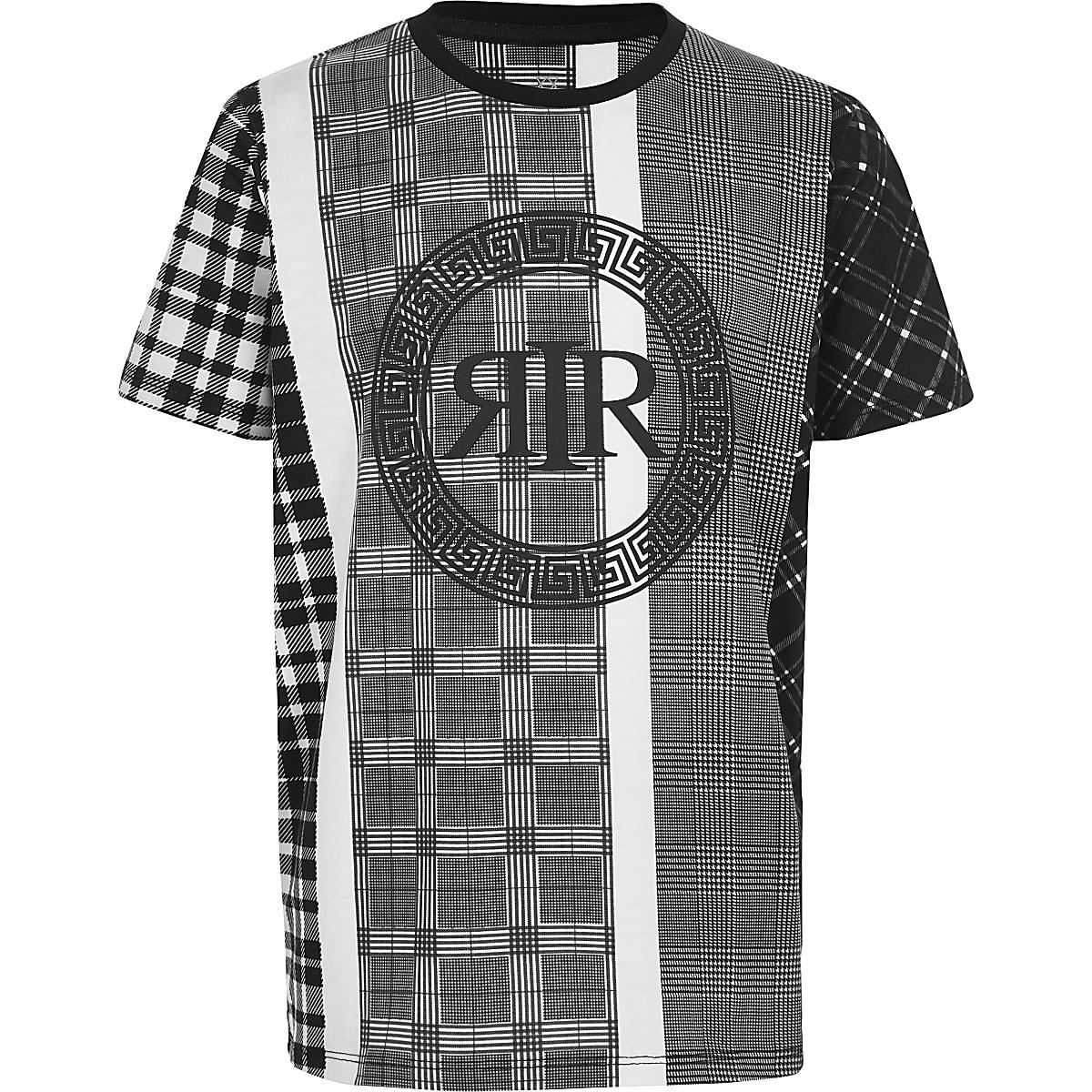Zwart-wit geruit T-shirt voor jongens