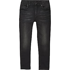 Boys black wash Sid skinny jeans