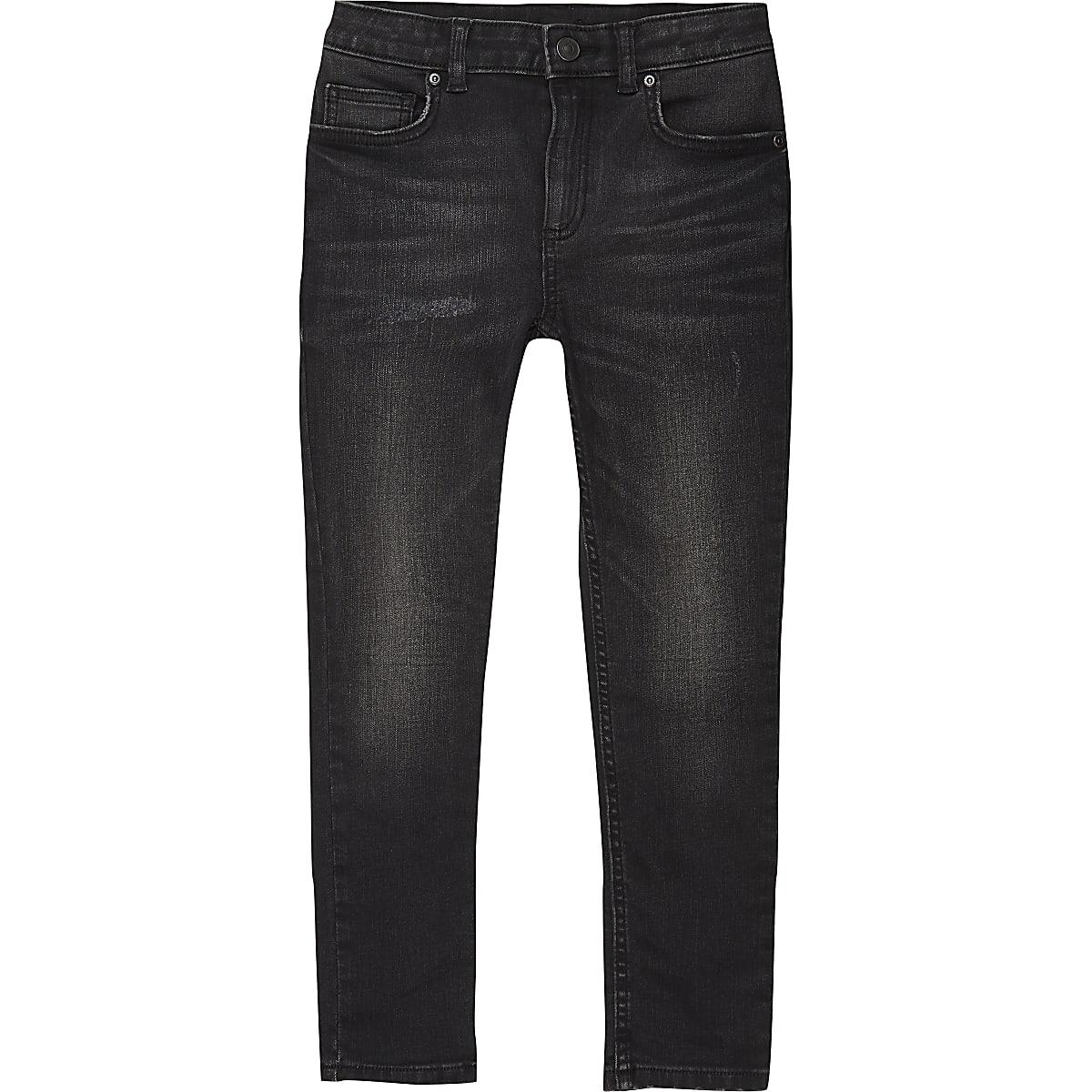 Boys black wash Sid skinny jeans