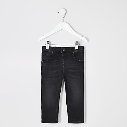 Mini boys black wash Sid skinny jeans