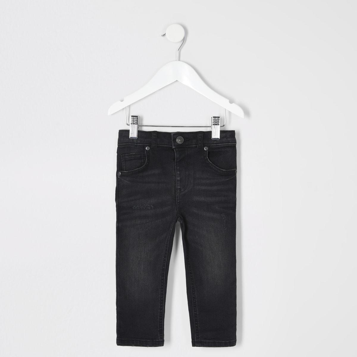 Mini boys black wash Sid skinny jeans