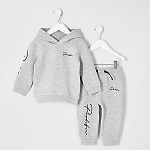 Grijze hoodie-outfit met 'Prolific'-print voor jongens