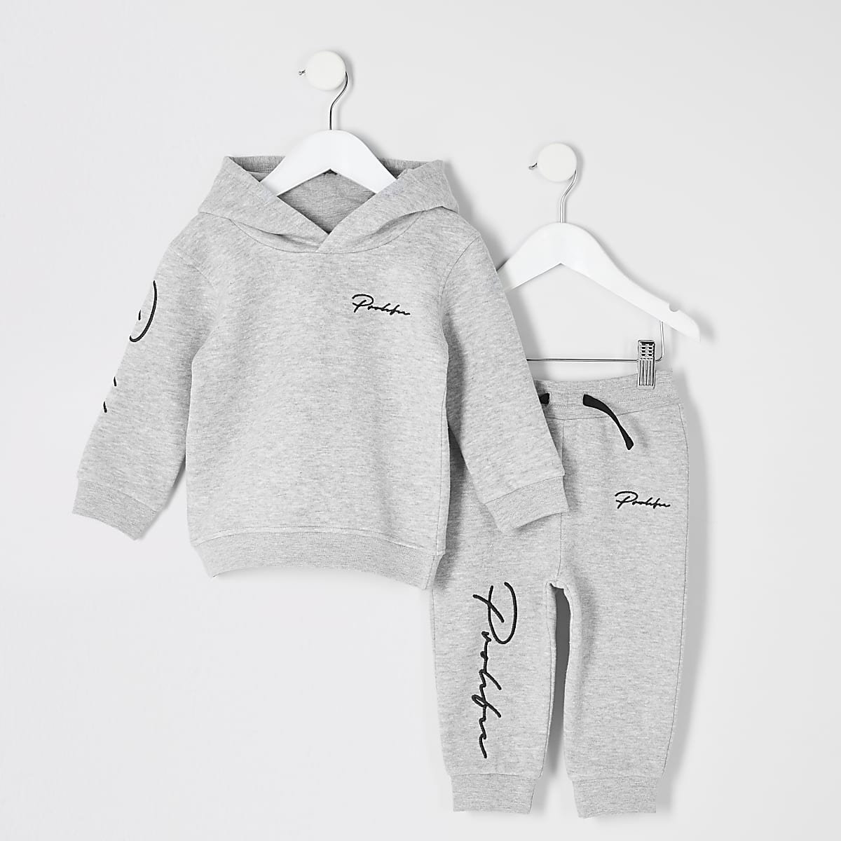 Mini boys grey 'Prolific' hoodie outfit