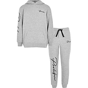 Boys grey 'Prolific' hoodie outfit