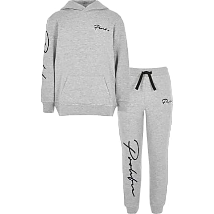 Boys grey Prolific hoodie outfit