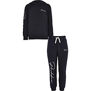 Prolific- Marineblauwe hoodie-outfit voor jongens