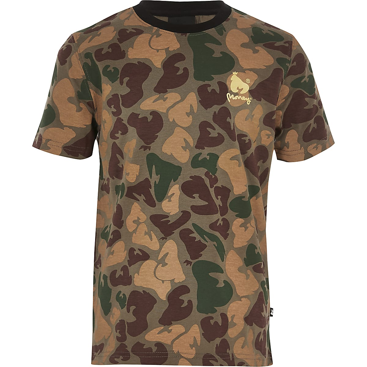Boys Money Clothing green camo T-shirt