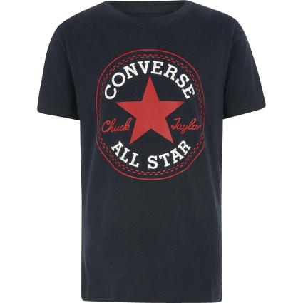 Boys navy Converse logo T-shirt