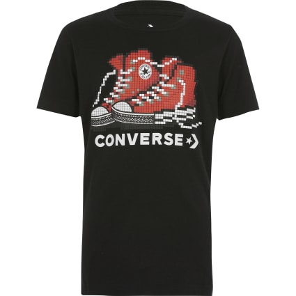 Boys Converse black 'Pixel' T-shirt