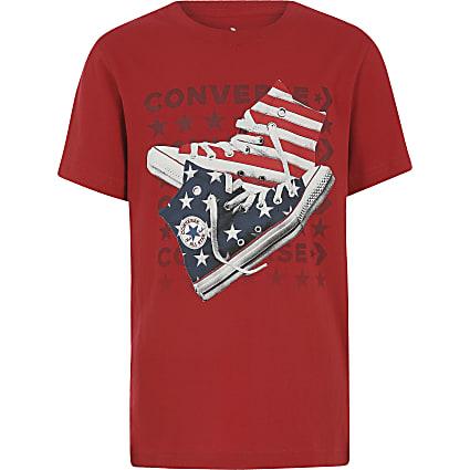 Boys red Converse print T-shirt