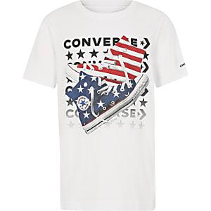 Converse – T-shirt imprimé chaussures sur la poitrine pour garçon