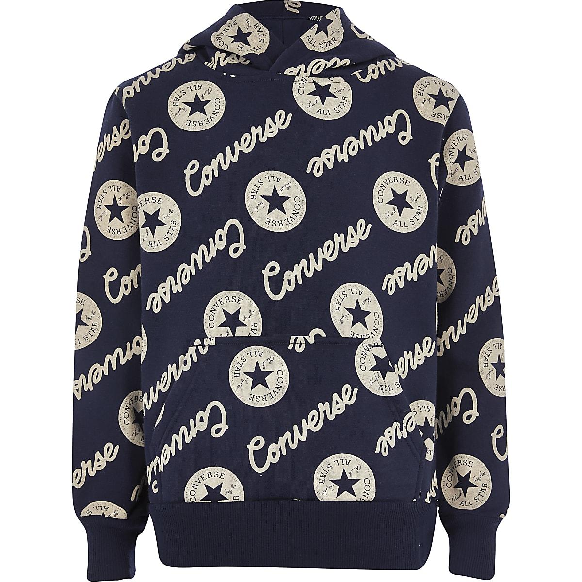 Converse - Zwarte hoodie met logo voor jongens