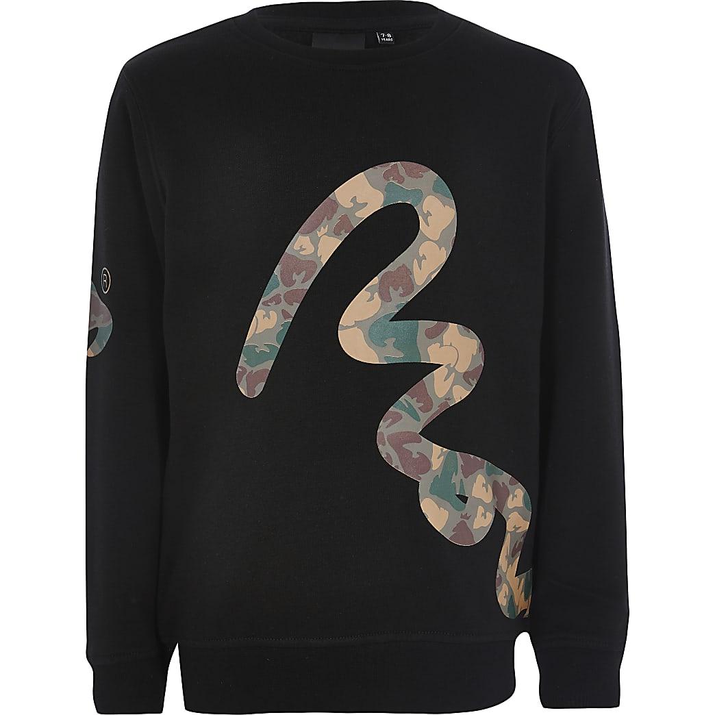 Money Clothing - Sweatnoir camouflage pour garçon