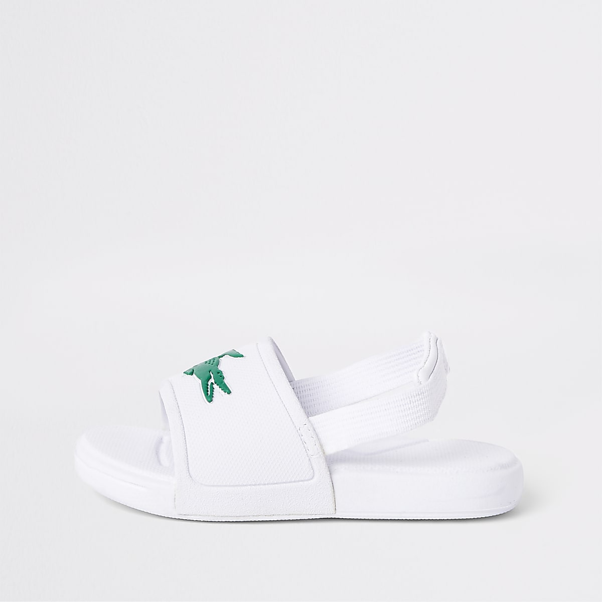 00172fa31ac7 Mini kids Lacoste white embossed sliders - Sandals - Footwear - boys
