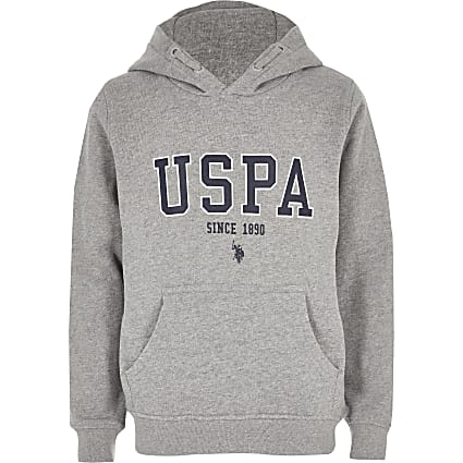 Boys grey U.S. Polo Assn. hoodie