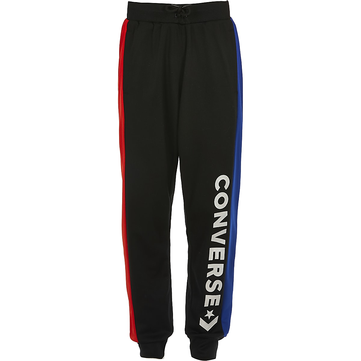 Boys black Converse blocked joggers