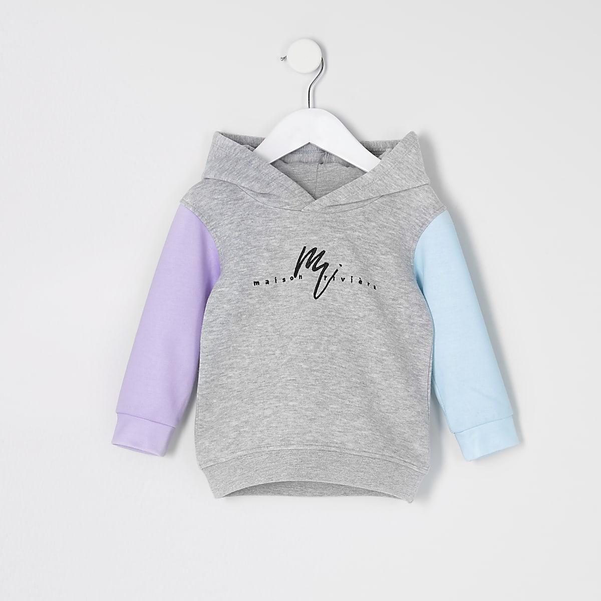 Mini boys grey 'Maison Riviera' hoodie