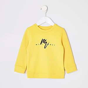Mini boys yellow print sweatshirt