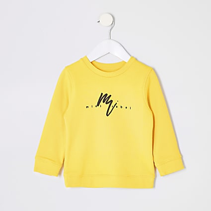 Mini boys yellow Maison Riviera sweatshirt