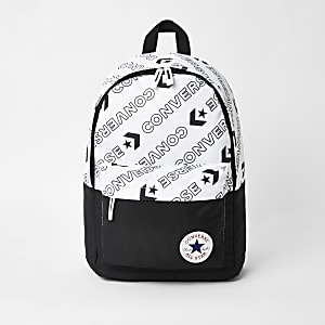Boys black Converse logo backpack