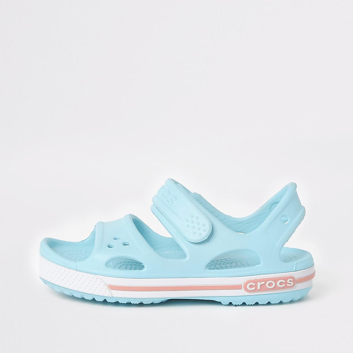 Kids Crocs light blue bayaband sandals