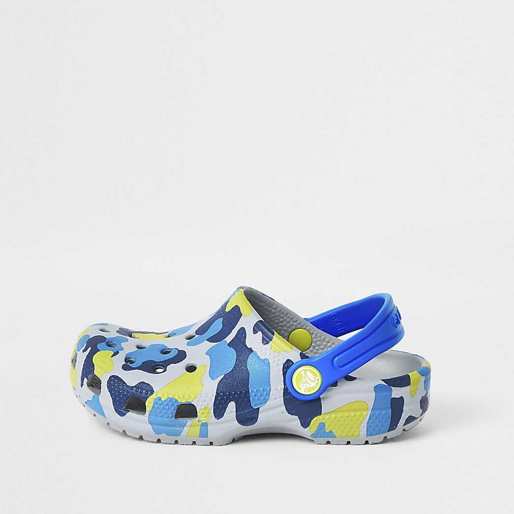 Boys Crocs grey camo clogs