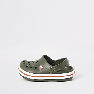 Mini boys Crocs khaki clogs