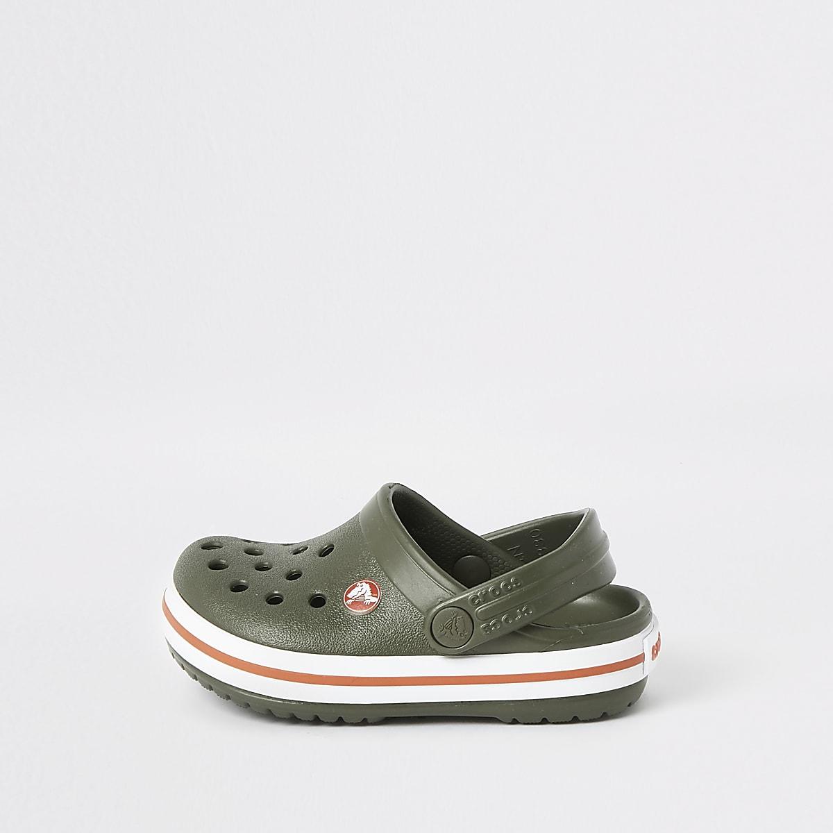 Mini boys Crocs khaki clogs