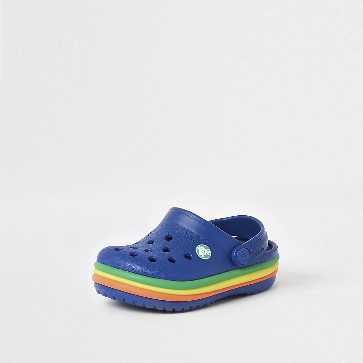 Navy Clogs Boys Mini Crocs Rainbow Ybf6g7yv