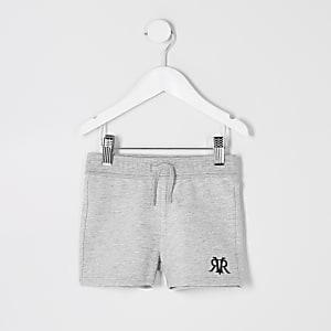 Mini - Grijze jersey short met RI-logo voor jongens