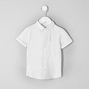 Chemise en sergé blanche pour mini garçon