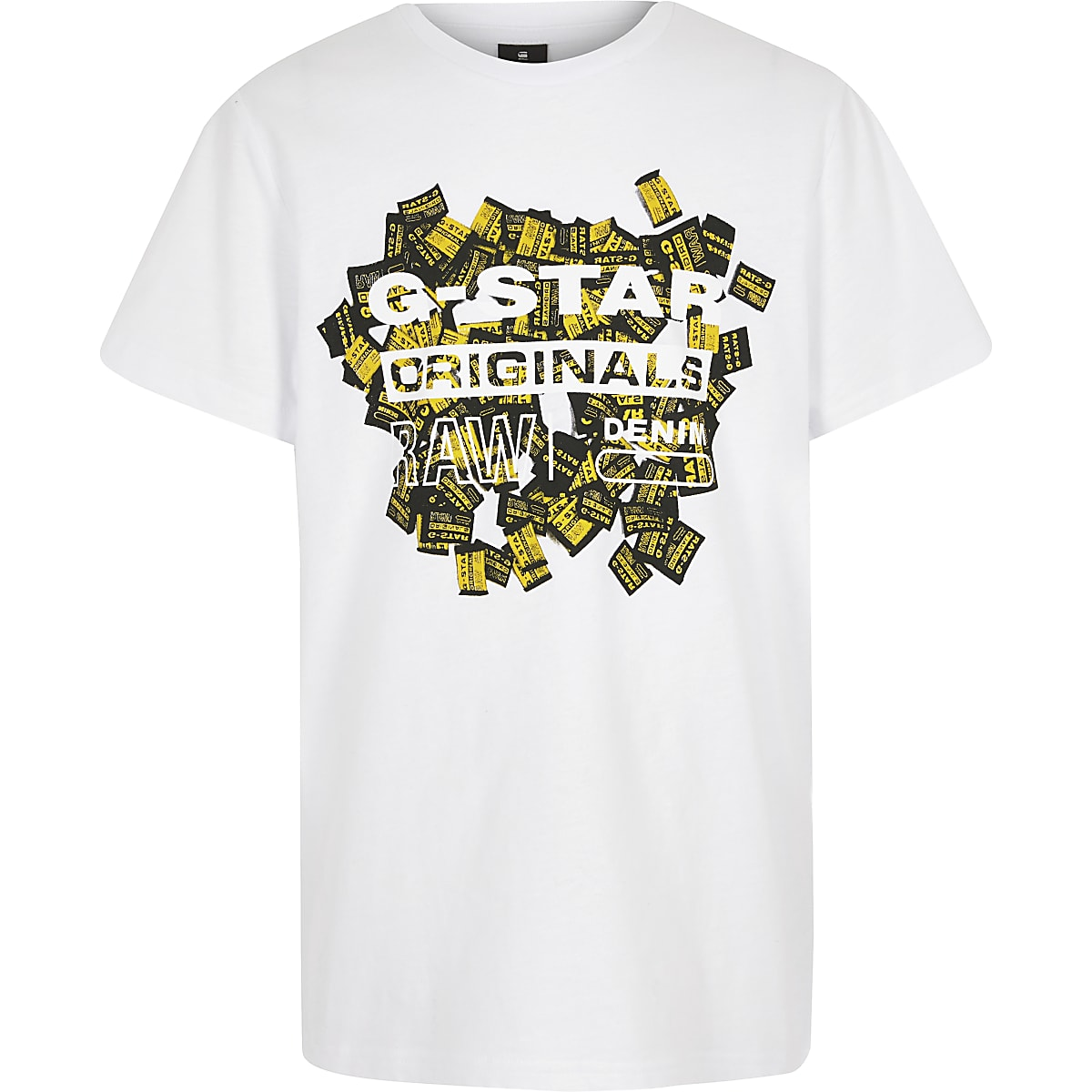 Boys G-star Originals camo print T-shirt