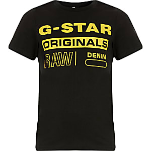 Boys G-Star Raw black printed T-shirt