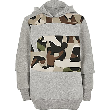 Boys G-Star Raw grey camo print hoodie