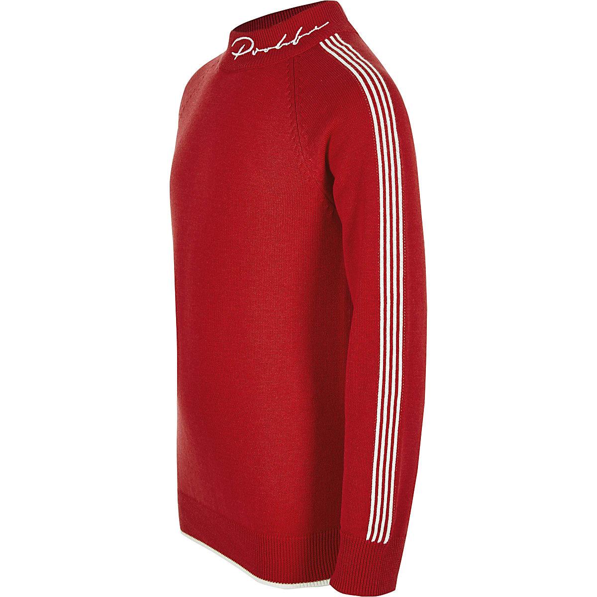 Prolific - Rode pullover met col voor jongens