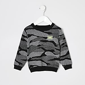 RI-Overall mit Camouflage-Muster für kleine Jungen in Schwarz