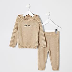 Prolific – Hellbraunes Strick-Outfit für kleine Jungen