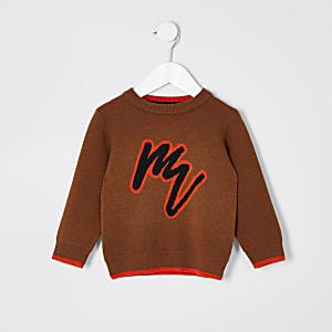 """Mini – Brauner Pullover """"Maison Riviera"""" für Jungen"""