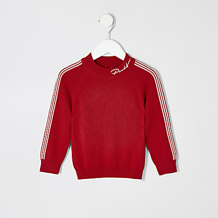 Mini boys red Prolific sweatshirt
