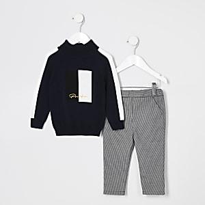 Mini - Prolific - Outfit met pullover met col voor jongens