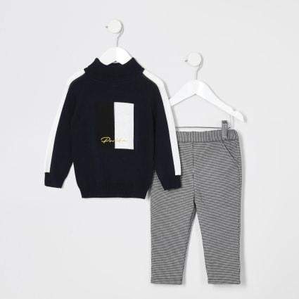 Mini boys Prolific roll neck jumper outfit