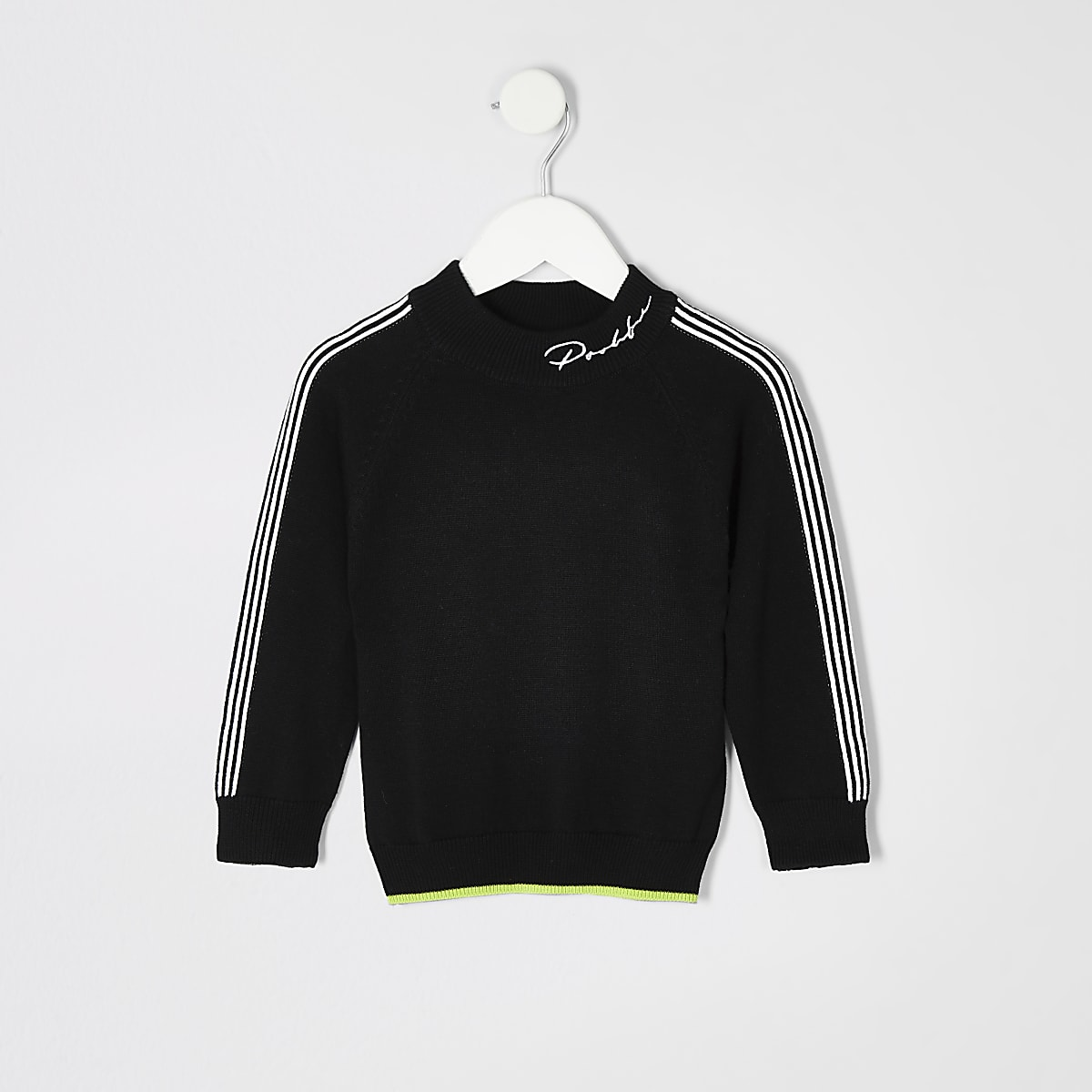 Mini boys black Prolific turtle neck jumper