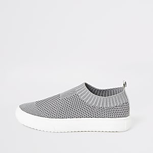 Boys grey sock trainers