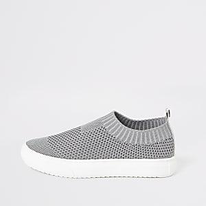 Baskets grises garçon