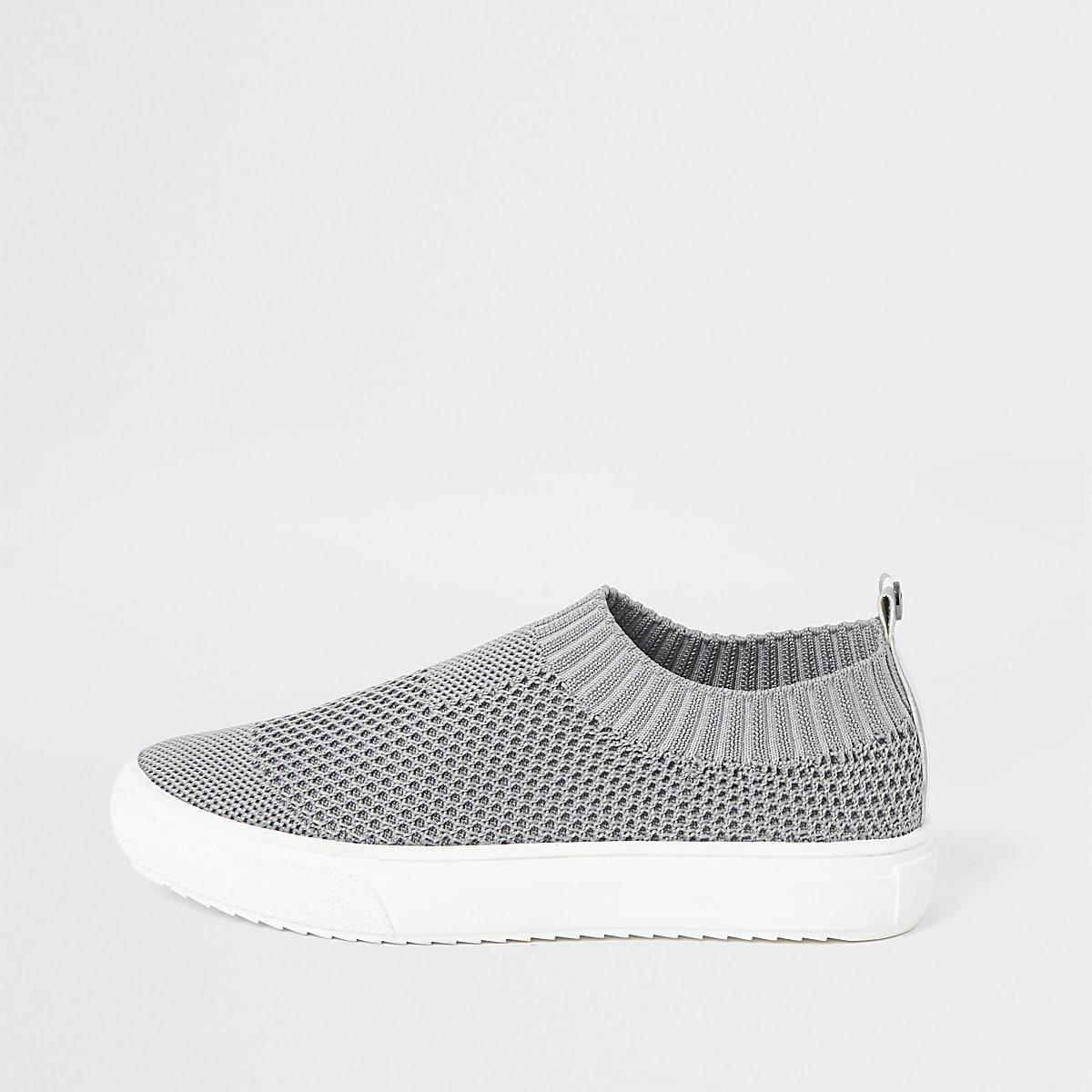 Grijze sok-sneakers voor jongens