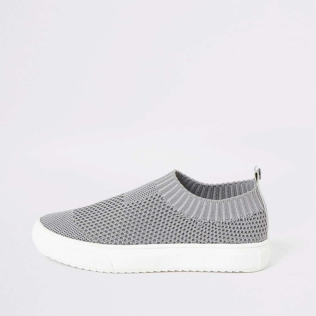 Boys grey sock trainers