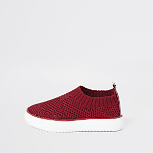 Mini boys red sock trainers