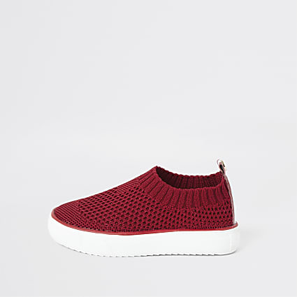 Mini boys red sock trainers